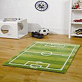 Kiddy Play Football Pitch Green 70x100cm Rug