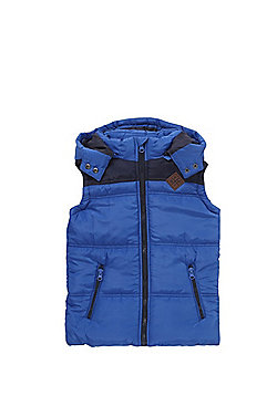 Minoti Padded Hooded Gilet - Blue