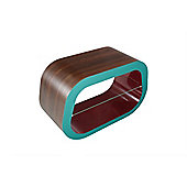 Squoval Coffee Table / Tv Stand - Walnut - Teal - Burgundy