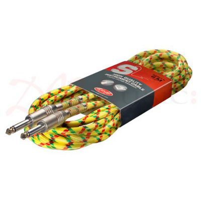 Stagg 6M Yellow Tweed Guitar Cable