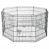 PawHut 8 Panel Pet Cage Playpen Dog Puppy Metal Cage Kennel Indoor Outdoor (30 In)