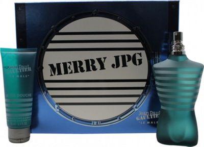Jean Paul Gaultier Le Male Gift Set 125ml EDT + 75ml All-Over Shower Gel For Men