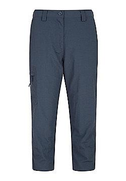 Mountain Warehouse Womens 100% Nylon Explore Capris w/ Elasticated Waistband - Dark grey