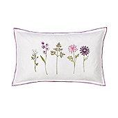 Julian Charles Imogen White Luxury Embroidered Filled Boudoir Cushion