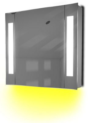 Ambient Demist Bathroom Cabinet With Sensor & Internal Shaver Socket K64Y