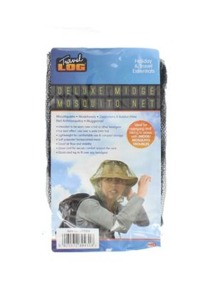 Deluxe Midge Mosquito Head Net Face Protector For Travel, Camping & Fishing