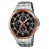 Casio Watches EF-326D-1AVUEF Edifice Rose Gold & Silver Stainless Steel Men's Watch Steel