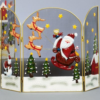49cm Santa and Sleigh Christmas Fireguard