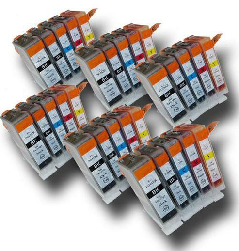 30 Chipped Compatible Canon PGI-5 and CLI-8 Ink Cartridges