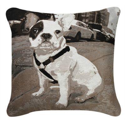 French Pug Cushion - Black & White