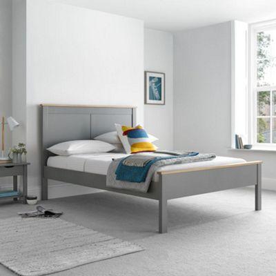 Happy Beds Vigo Wood Low Foot End Bed - Grey - 3ft Single