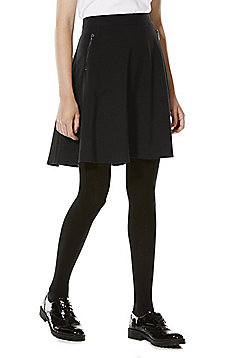 F&F School Soft Touch Skater Skirt - Black