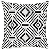 Tesco Embroidered Geometric Cushion
