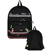 Super Mario Nintendo Classic Reversible Black Backpack 32x41x14cm