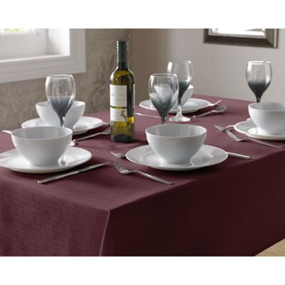 Select Oblong Tablecloth 135x180cm - Burgundy