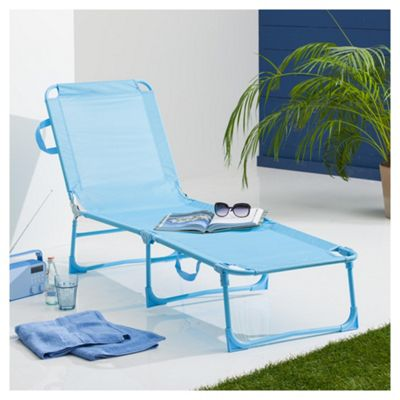 buy folding garden lounger aqua from our sun lounger. Black Bedroom Furniture Sets. Home Design Ideas