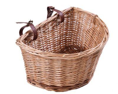 Ryedale Traditional Willow Wicker Bike Basket 10