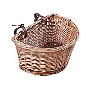 Ryedale Traditional Willow Wicker Bike Basket 10""