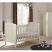 Tutti Bambini Alexia 3 Piece Cotbed/ Wardrobe Sprung Mattress Room Set - Vanilla