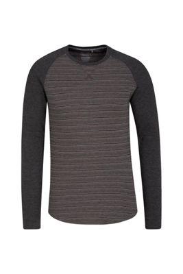 Mountain Warehouse Waffle Mens Long Sleeve Stripe T-Shirt ( Size: XXXXL )