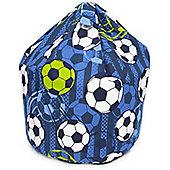 Blue Football Bean Bag