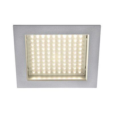 led Panel Downlight Square Silvergrey 8.5W Warm White LED