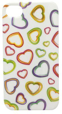 Tortoise™ Look Hard Case iPhone 4/4S Heart Print Multi