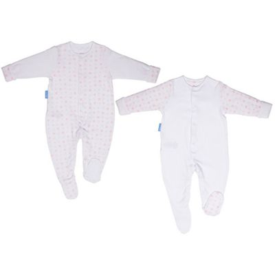 Grobag Twin Pack Pink Hearts Gro-Suit (6-9 Months)