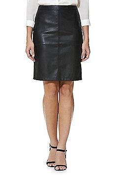 Vila Faux Leather Pencil Skirt - Black
