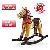 Heritage Deluxe 68cm Cowboy Rocking Horse With Sounds and Moving Mouth