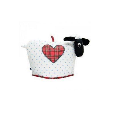 D&C Supplies Dolly Sheep Shaped Tartan Love Heart Cotton Tea Cosy