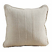 Homescapes Cotton Rajput Ribbed Natural Cushion, 45 x 45 cm