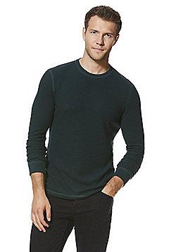 F&F Waffle Knit Top - Green