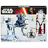 Star Wars The Force Awakens Assault Walker with Riot Control Stormtrooper Sgt - Action Figures