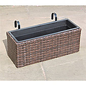 Hand Woven Rattan Rectangle Window Basket - Medium