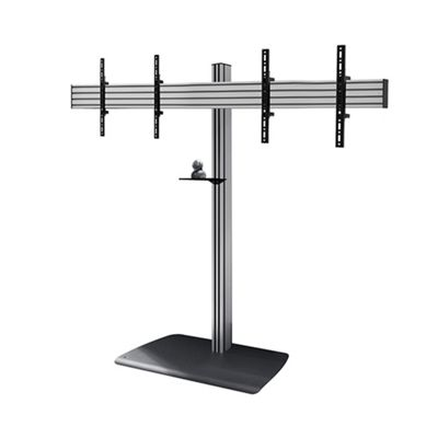B-Tech BTF845/BS Universal Twin Screen Video Conferencing Stand - 1.8m