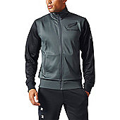 adidas New Zealand All Blacks Supporters Tracksuit Top 2017 - Grey
