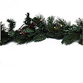 120cm Mantlepiece Pre Lit Christmas Garland with Pine Cones (Battery)