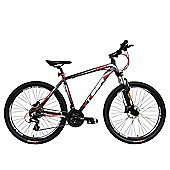 Tiger HDR 27.5 Front Suspension Mountain Bike Matte Grey Red