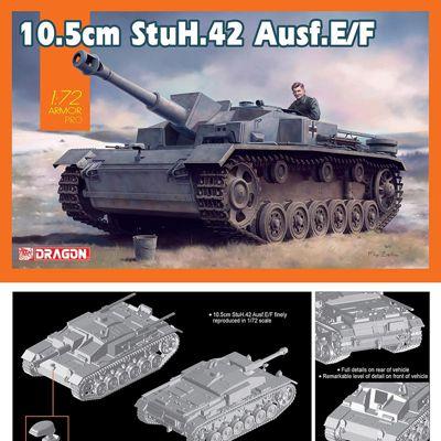 DRAGON 7561 10.5cm StuH.42 Ausf E/F 1:35 Military Model Kit