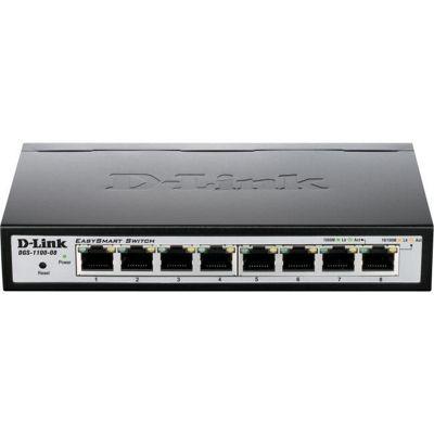 D-Link DGS-1100-08 8-Port Gigabit Smart Managed Switch (fanless)