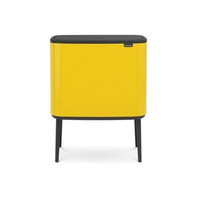 Brabantia Bo Touch Bin, 36L - Daisy Yellow