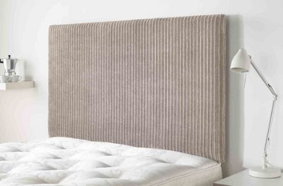 Aspire Furniture Lightmoor Headboard in Loumaire Corded Fabric - Mink - Single 3ft