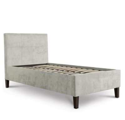 Tufted Designer Fabric Bed - Single - Light Grey