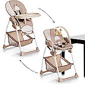 Hauck Sit n Relax 2-in1 Highchair/Bouncer (Giraffe)