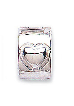 Jo For Girls Silver Heart Hinged Stopper Slide On Bead