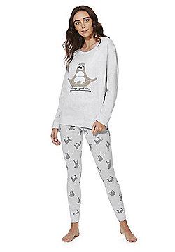 F&F Meditating Sloth Pyjamas - Grey