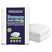 Slumberdown Bouncy Anti Allergy Mattress Protector, Double