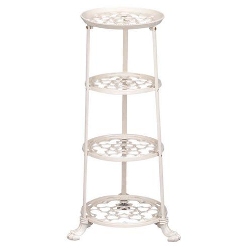 Cast Iron 4 tier Saucepan Stand - Cream