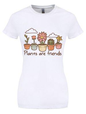 Plants Are Friends White Women's T-shirt